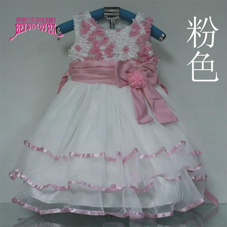 花邊束腰女童童裝連衣裙婚紗裙 5