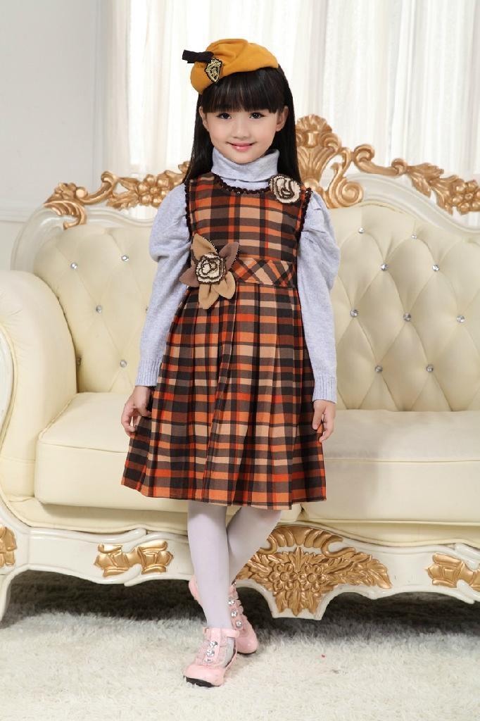 2013韓版秋款時尚公主連衣裙童裝連衣裙 1