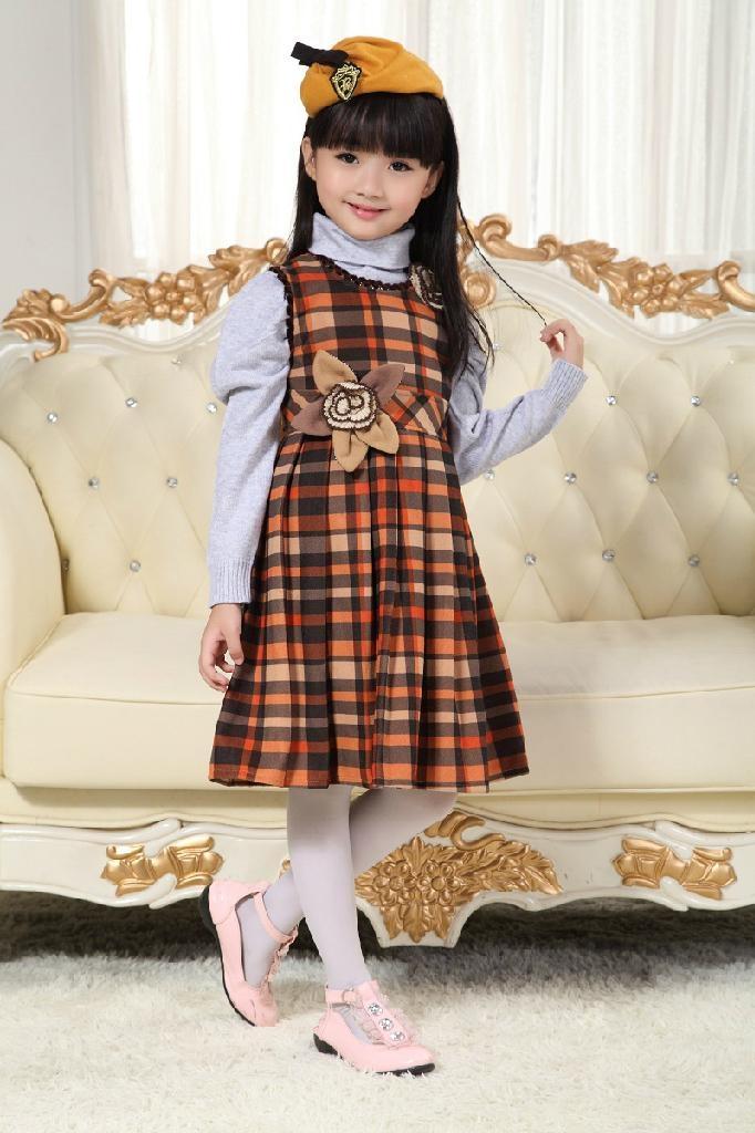 2013韓版秋款時尚公主連衣裙童裝連衣裙 2