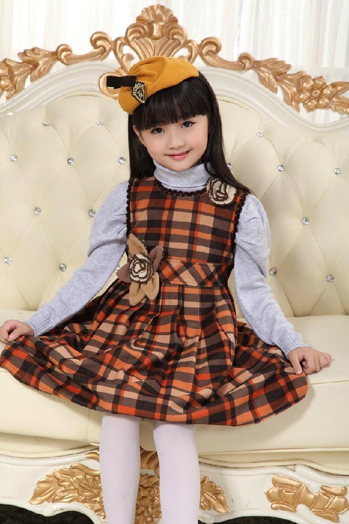 2013韓版秋款時尚公主連衣裙童裝連衣裙 3