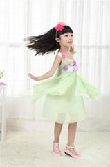 時尚女童雪紡儿童連衣裙
