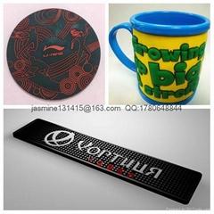 PVC Tea and coffee Coaster