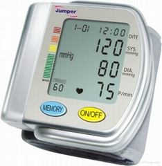 CE Approved Wrist Blood Pressure Monitor Sphygmomanometer&heart beat meter