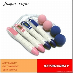 Wireless digital skipping speed jump rope with ball on the end