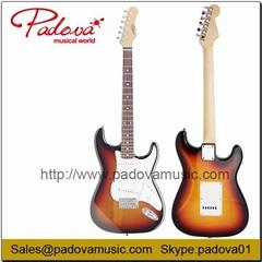 ST Electric Guitar in Sunburst Color