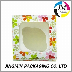 Paper cupcake boxes with window