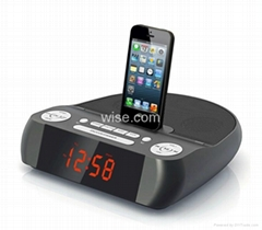 Lightning connector Docking Speaker with FM Radio and clock Alarm