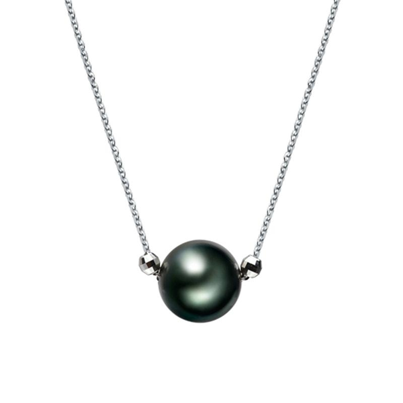 tahitian in pendant white gold black pearl products