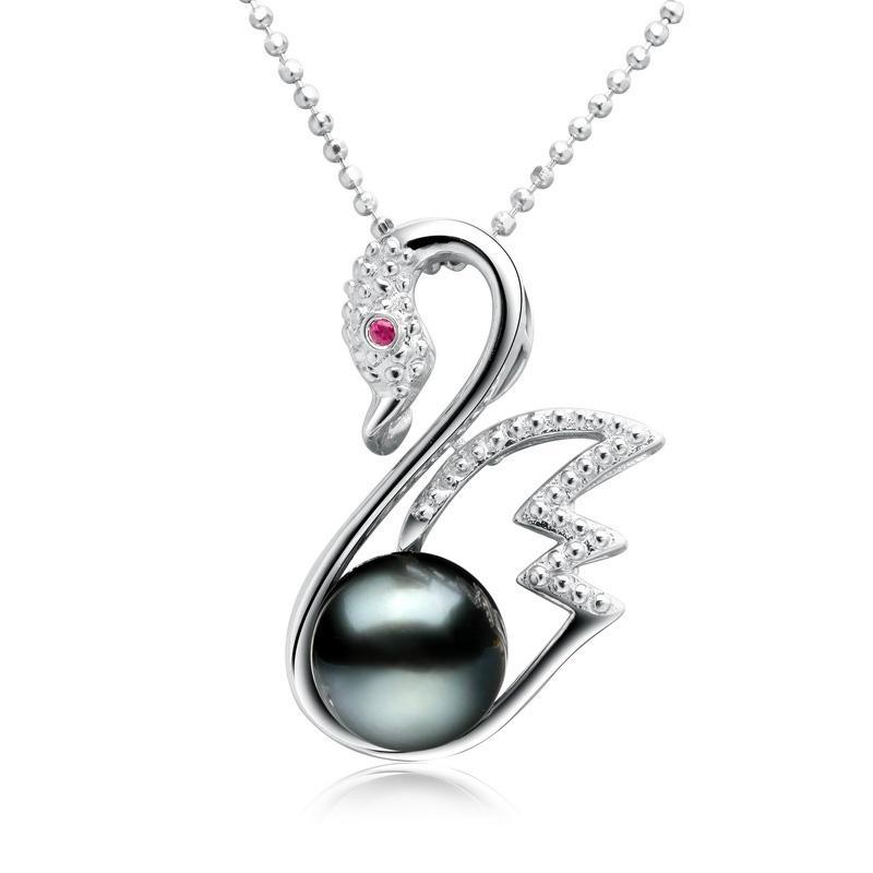 S925 silver Tahiti black pearls 1