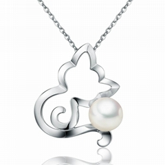 18 k gold with white seawater pearl pendant