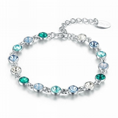 Alloy Bracelet Jewelry Main Stone Blue