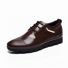 自由漫步男士真皮工装靴
