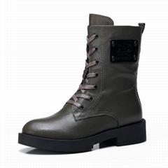 自由漫步女士秋款靴子馬丁靴