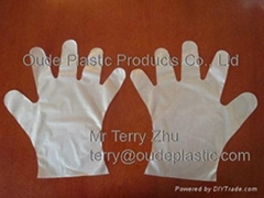 Disposable CPE gloves