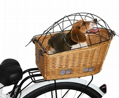 bicycle pet basket willow basket easy to take and install