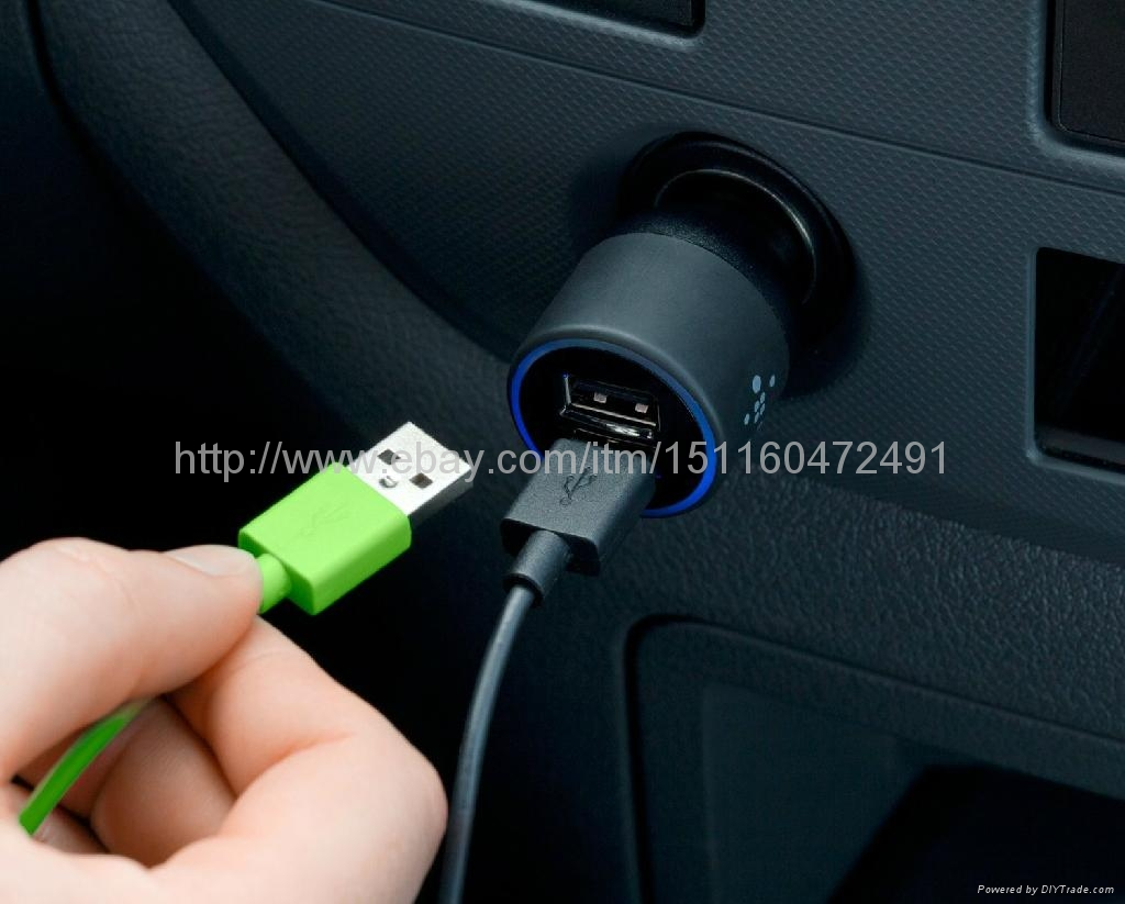 2 port car charger with lightning to usb cable for iphone5 3
