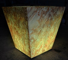 led marble flower pot