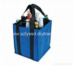 Heavy Capacity 6 Bottles Nonwoven Beer Bag