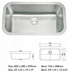 Stainless Steel Sink ( A84 )
