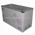 ice cream flat glass door chest freezer