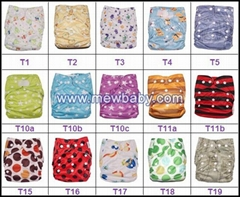 Breathable Baby Diapers Washable Printed Cloth Diapers Nappies