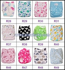 Fashion Printing PUL Waterproof Baby Cloth Diapers Nappies