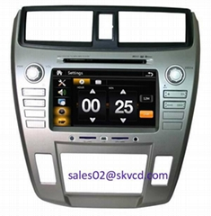 HONDA New City car dvd player gps navigation bluetooth dvbt isdb-t tv radio ster