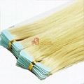 100% remy human tape hair extension