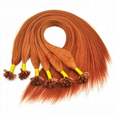 Wholesale Remy European Nail Hair Extensions Fashion Keratin Nail Tip