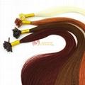 U tip human hair extension nail tip hair