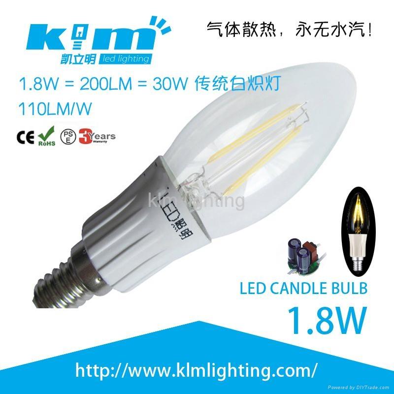 LED 1.8w COB Filament Candle Bulb 220v 1
