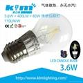 LED 1.8w COB Filament Candle Bulb 220v 3