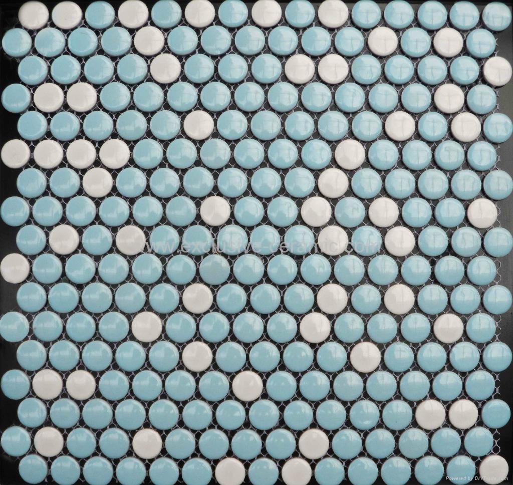 Round ceramic tiles