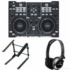 Hercules DJ 4-Set USB Controller & Interface w/L-Stand-S & Gemini Headphones
