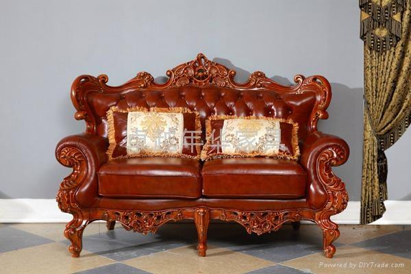实木真皮沙发 3