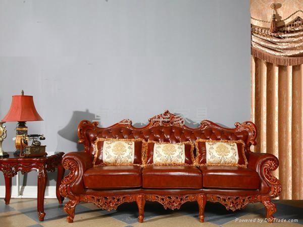 实木真皮沙发 4