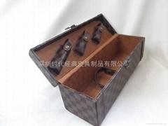 高檔單支通用裝皮質紅酒盒