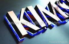 Polished Stainless Steel Backlit Signs