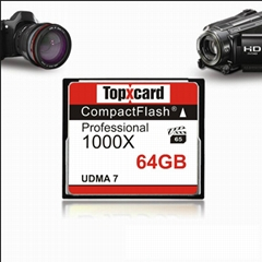TopXCard 1000X CF flash Memory card UDMA 7 CF card 64GB 150MB/S Compact Flash Ca