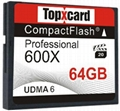 TopXCard CF card memory 64gb 600X Compact Flash card 64GB 95MB/S Memory Card for 1