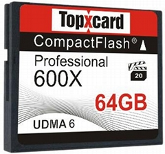 TopXCard CF card memory 64gb 600X Compact Flash card 64GB 95MB/S Memory Card for
