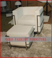 Living Room Chair (Le Corbusier Sofa)