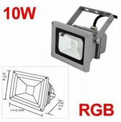 High Quality 10w 12v RGB led flood light