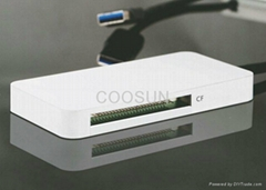 USB 3.0 3-slot card reader