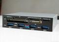 "PCI-E To USB 3.0 Internal Combo 3.5"" Internal USB 4-Port HUB+USB 2.0 card reader 1"