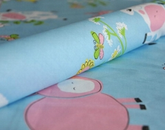 printed and dyed fabric for bedding sheet
