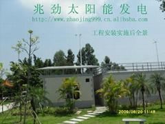 無蓄電功能的太陽能發電抽水灌溉系統