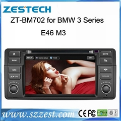 Whoelsale High quality car dvd player for BMW 3 Series E46 with bluetooth/gps