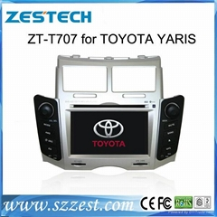 ZESTECH car gps navigation car dvd player for TOYOTA YARIS