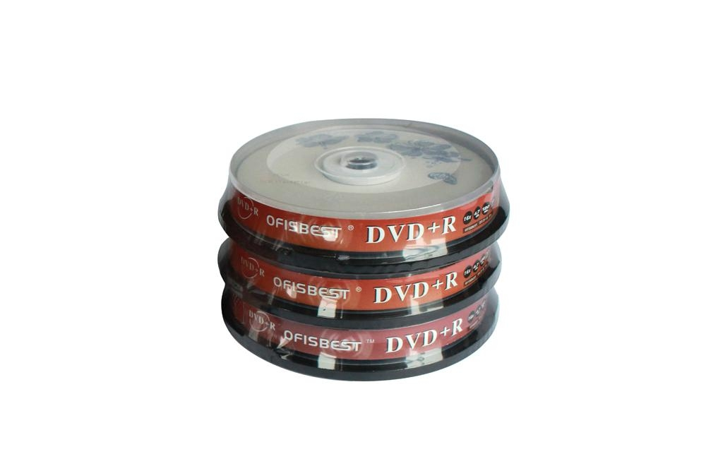 Blank DVD+/-R 16X Record speed 4.7GB storage capacity 120minutes playing time 4